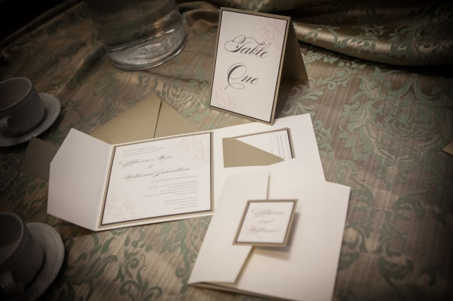Cream and Gold Invitation