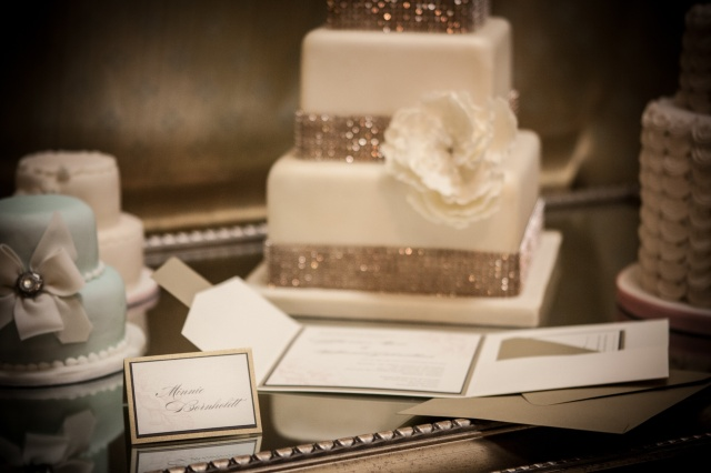 Cream and Gold place card and invitation