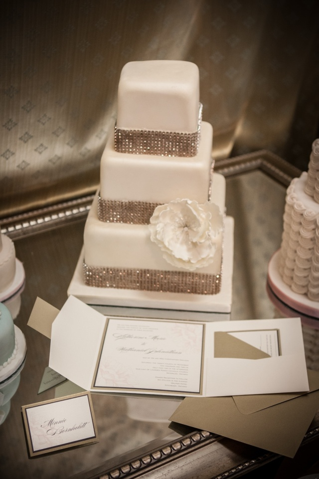 Cream and Gold Wedding Invitation