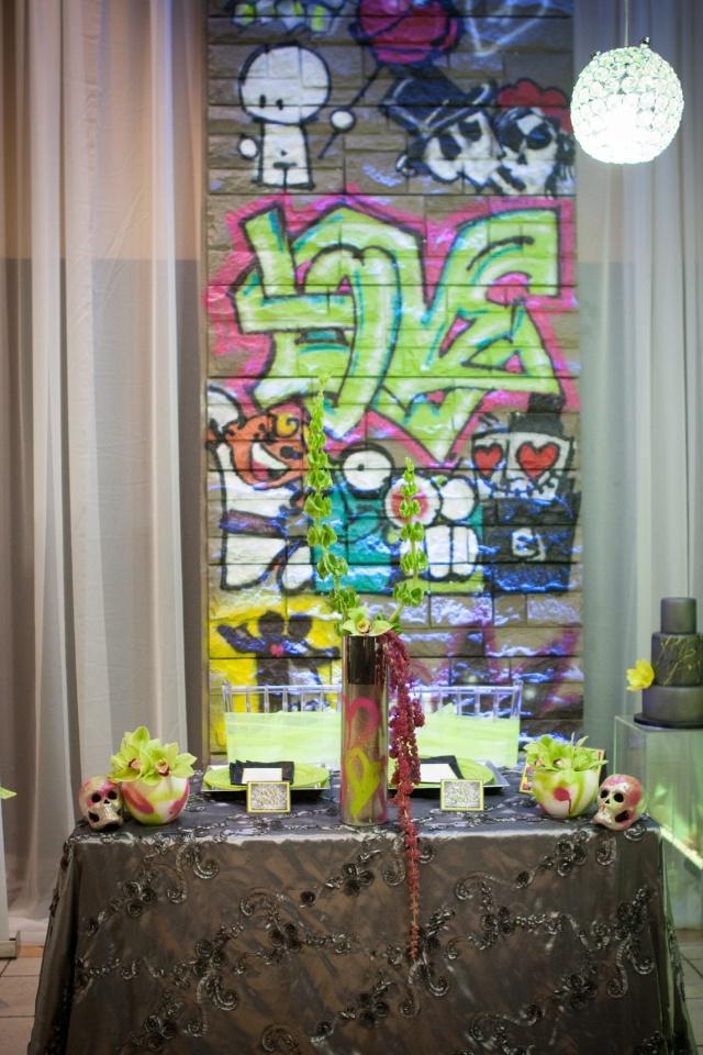 Graffiti table top