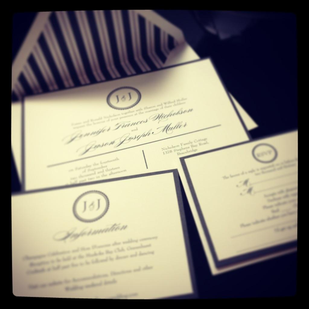 kitchener/waterloo wedding invitations –
